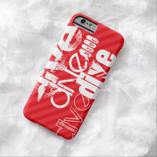Dive; Scarlet Red Stripes Barely There iPhone 6 Case