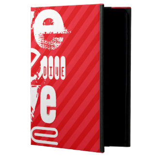Dive; Scarlet Red Stripes iPad Air Cover