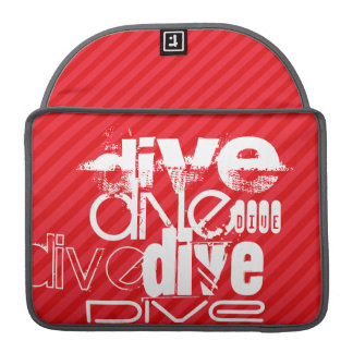 Dive; Scarlet Red Stripes MacBook Pro Sleeve