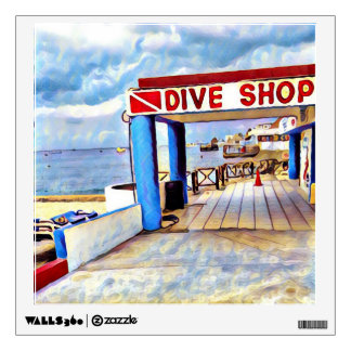 Dive Shop, Cozumel, Mexico Wall Decal