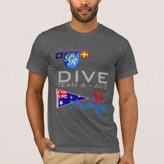 Dive Team A Diving AUS Australia Flag Number 36 T-Shirt