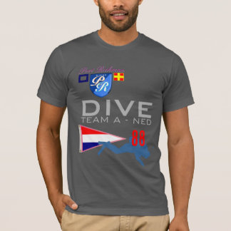 Dive Team A Diving NED Netherlands Flag Number 88 T-Shirt