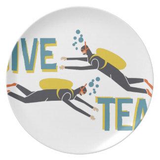 Dive Team Plate