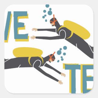 Dive Team Square Sticker