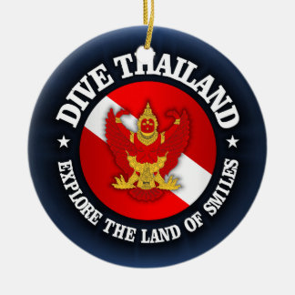 Dive Thailand (rd) Ceramic Ornament