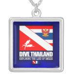 Dive Thailand Square Pendant Necklace