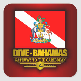 Dive the Bahamas 2 Square Sticker