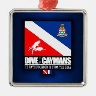 Dive The Caymans Metal Ornament
