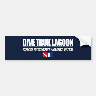 Dive Truk Lagoon Bumper Sticker