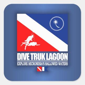 Dive Truk Lagoon Square Sticker