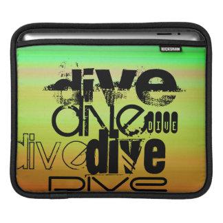 Dive; Vibrant Green, Orange, & Yellow Sleeve For iPads