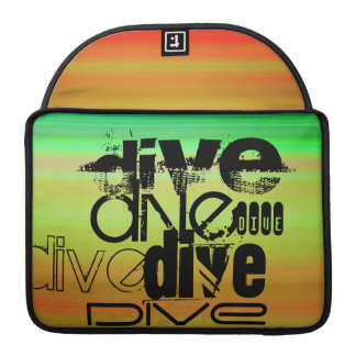 Dive; Vibrant Green, Orange, & Yellow Sleeve For MacBooks