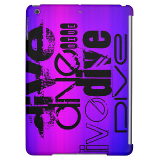 Dive; Vibrant Violet Blue and Magenta iPad Air Cover