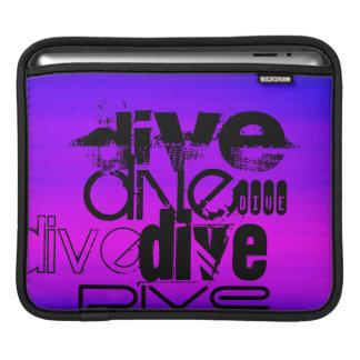 Dive; Vibrant Violet Blue and Magenta iPad Sleeve