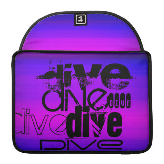 Dive; Vibrant Violet Blue and Magenta Sleeve For MacBooks