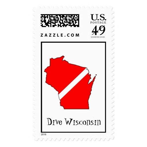 Dive Wisconsin Postage