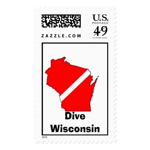Dive wisconsin stamp