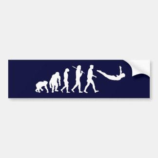 Dive with the swimmers and divers diving evolution bumper sticker