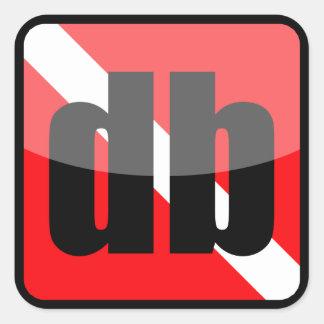 DiveBuddy.com Square Sticker
