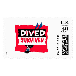 dived survived postage stamp