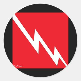 DiveFlag de lujo por DiversDen Etiquetas Redondas