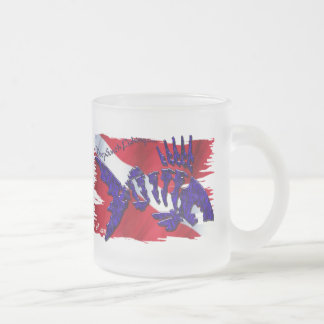 DiveGear Collection Frosted Glass Coffee Mug