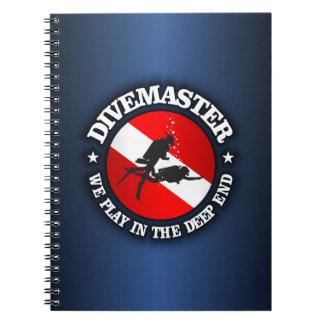 Divemaster (extremo profundo) spiral notebooks