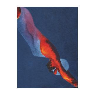 Diver 2 canvas print