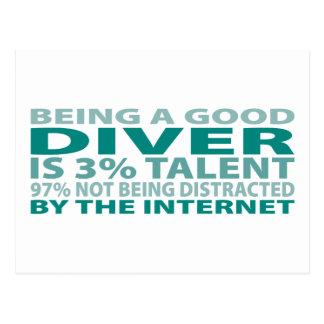 Diver 3% Talent Postcard