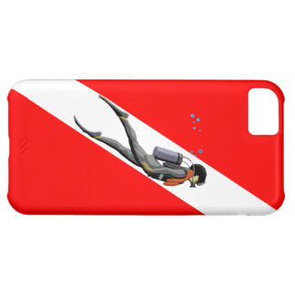 Diver And Dive Flag Case For iPhone 5C