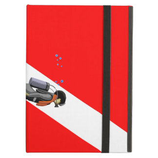 Diver And Dive Flag iPad Air Cover