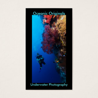 Diver and Soft Coral Business Card Template