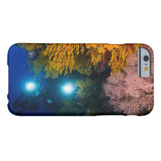 Diver and Soft Corals on the Great Barrier Reef Barely There iPhone 6 Case