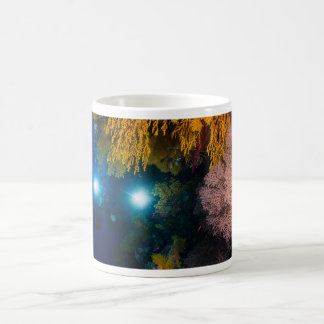 Diver and Soft Corals on the Great Barrier Reef Coffee Mug