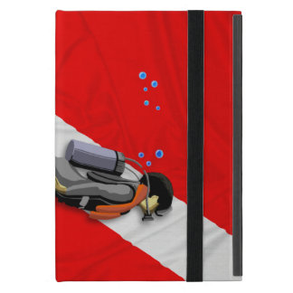 Diver And Wrinkled Dive Flag Case For iPad Mini