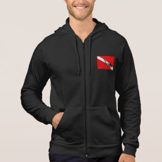 Diver And Wrinkled Dive Flag Hoodie