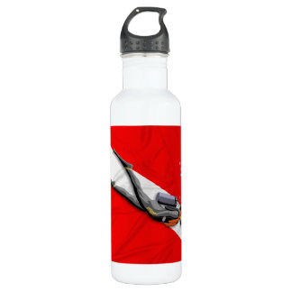 Diver And Wrinkled Dive Flag Stainless Steel Water Bottle