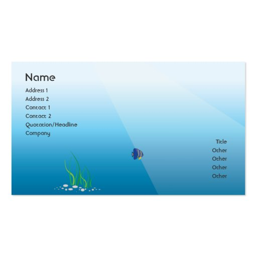 Diver - Business Business Cards