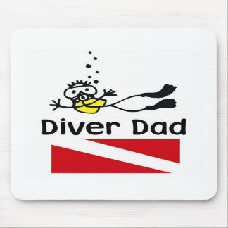 Diver Dad Mouse Pad