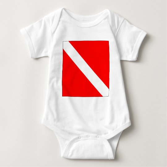 Diver Down Classic Flag Baby Bodysuit