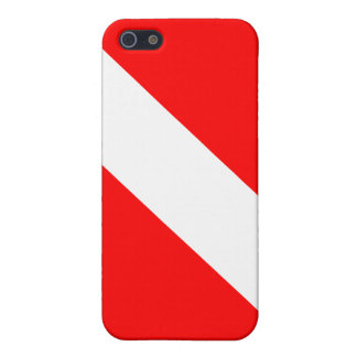 Diver Down Classic Flag iPhone 5/5S Cases