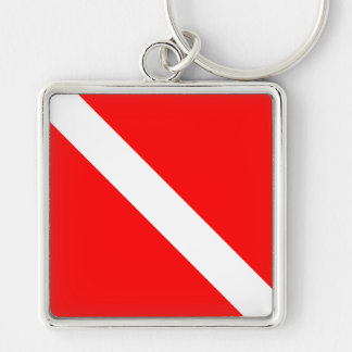 Diver Down Classic Flag Keychain