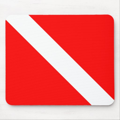 Diver Down Classic Flag Mouse Pads