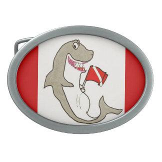 Diver Down Fat Shark Belt Buckle