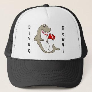Diver Down Fat Shark Trucker Hat