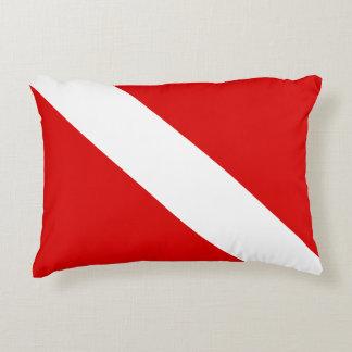 Diver Down Flag Accent Pillow