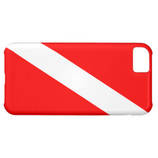 Diver Down Flag Cover For iPhone 5C