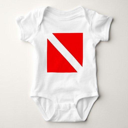 Diver Down Flag design Baby Bodysuit