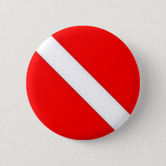 Diver Down Flag design Button
