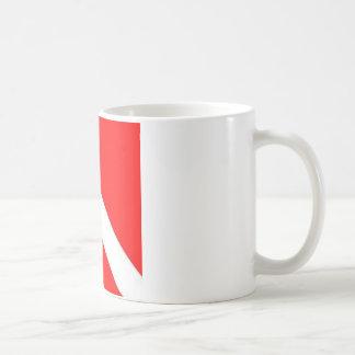 Diver Down Flag design Coffee Mugs